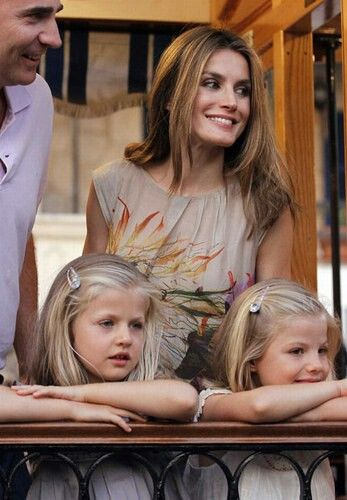 CP Letizia and her daughters. Spain