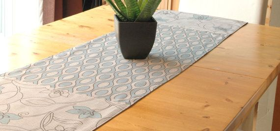 Table runner designer fabric with lining 2 tone by CreationsNikki, $43.00