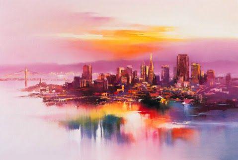 Hong-Leung  San Francisco at dusk - PROJEÇÕES DE UM PERFIL FUGIDIO