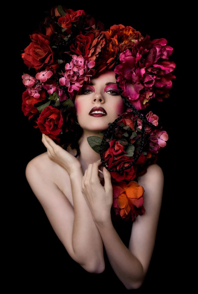 """Rose Child from Kirsty Mitchell's stunning narrative photography gallery, """"Wonderland"""". Fabulous photographer with entrancing images and a the most creative imagination ever."""