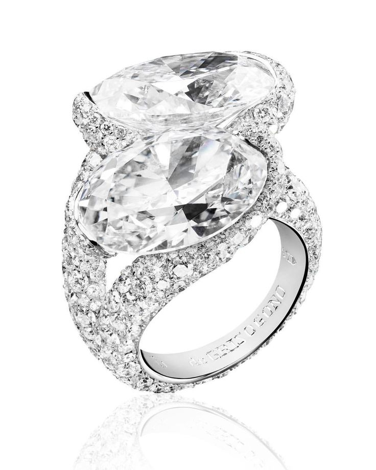 high jewellery ring in white gold set with white diamonds find this pin and more on toi et moi