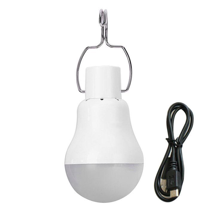 ICOCO Hot Sale Portable Outdoor USB Rechargeable LED Bulb Engergy Saving Camping Lamp Hiking Fishing Light 1.5W 1500mah 110V #Affiliate