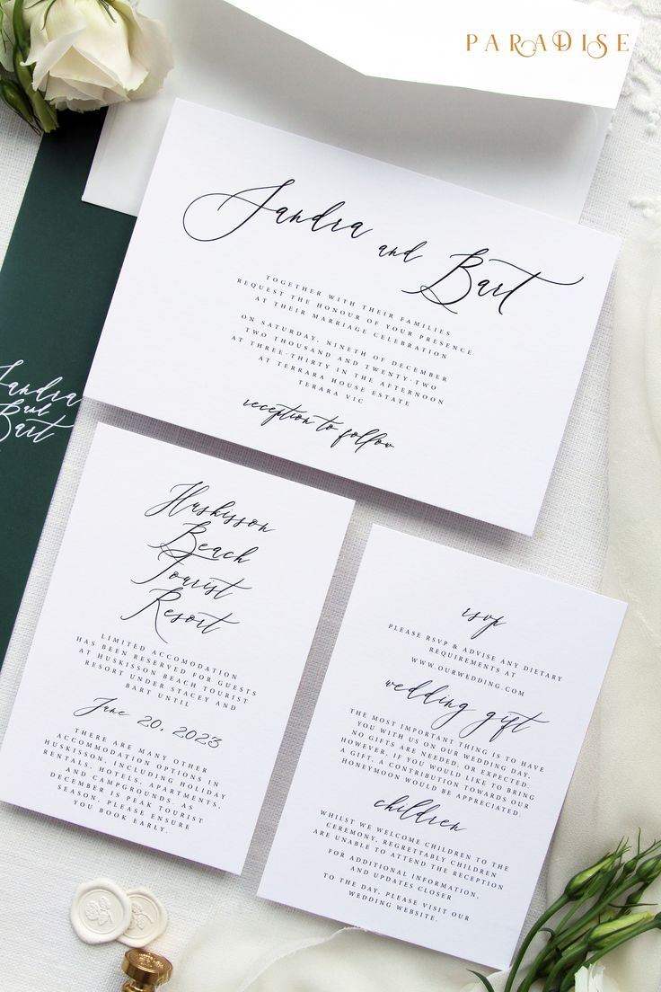 Sandra Modern Calligraphy Wedding Invitation Sets Wedding