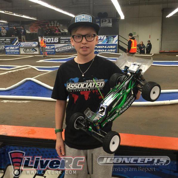 Joona HAATANEN (FIN) Reedy Race of Champions 2016 2WD Open Winner (@ 12 years old!)