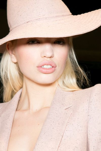 Miss Millionairess:  ❦ Soft/Spring/Beautiful blush pink hat, lips and jacket