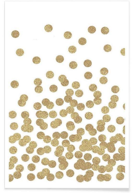 Gold Glitter - Charlotte Winter - Affiche premium