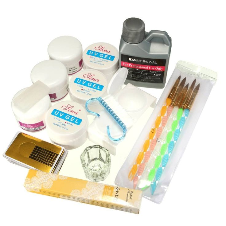 DANCINGNAIL Nailart Set Acryl Liquid Pulver UV Gel Nagelkunst Tips Manikuere Kit DIY: Amazon.de: Beauty