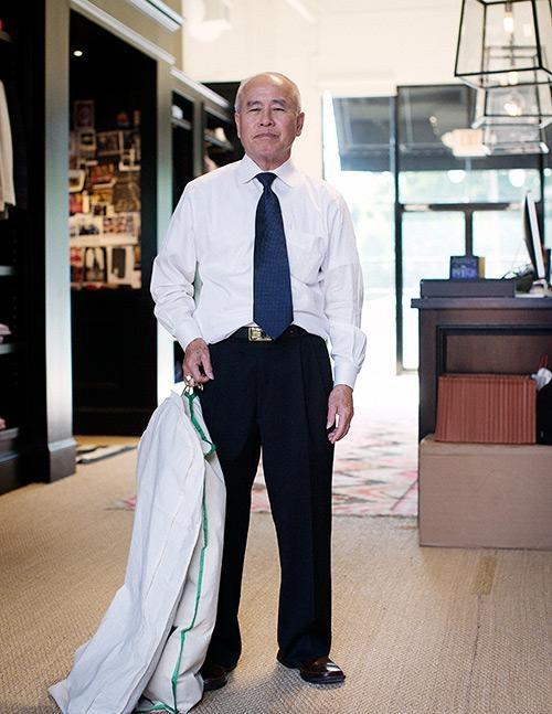 Quang Dau, master tailor at Sid Mashburn.  Emphasis on master.