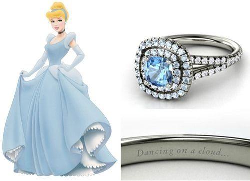 cinderella engagement ring - Cinderella Wedding Ring