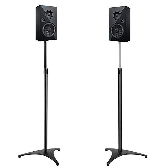 2 Stands Per Pack Black Atlantic Satellite 77305018 2 Speaker Stands