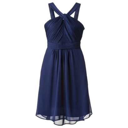 In Blue or Blue Ocean? Cheap Target Bridesmaid Dresses, Yay! TEVOLIO™ Womens Halter Neck Chiffon Dress - Fashion Colors
