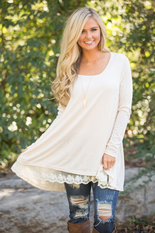 This lovely tunic is simply irresistible - it's the sweetest look for fall!