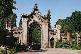 Gate to the Old Evangelical Cemetery in Bielsko-Biała, Poland