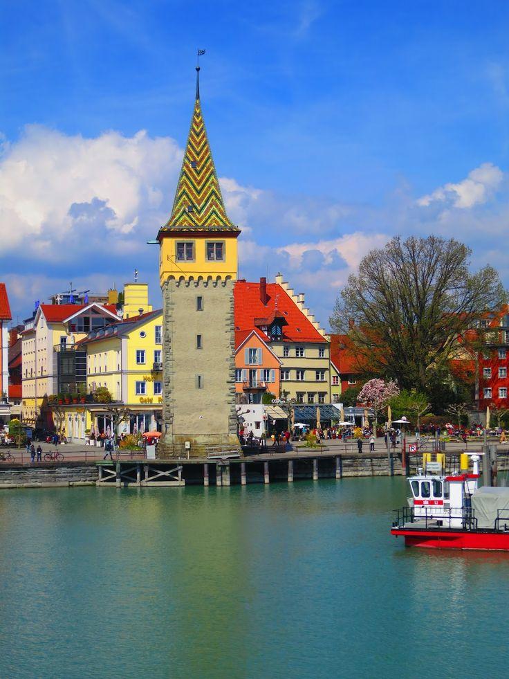 .~Mangturm (Old Lighthouse) Lindau on Lake Constance - Bavaria - Germany~.
