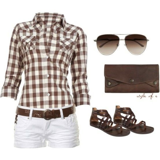 simple. perfect.: Http Fashionworship Com, Cowboy Boots, Brown Sandals, Summer Brown, Cute Outfits, Summer Outfits, Country Cut, Brown Great, Longer Shorts