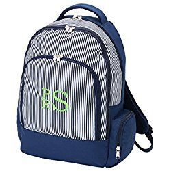 Back to School Backpacks (Personalized, Navy Pinstripe)