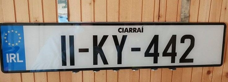 Kerry Ireland License Plate New Condition 11 KY 442 ..Free Dealer Frame Surround