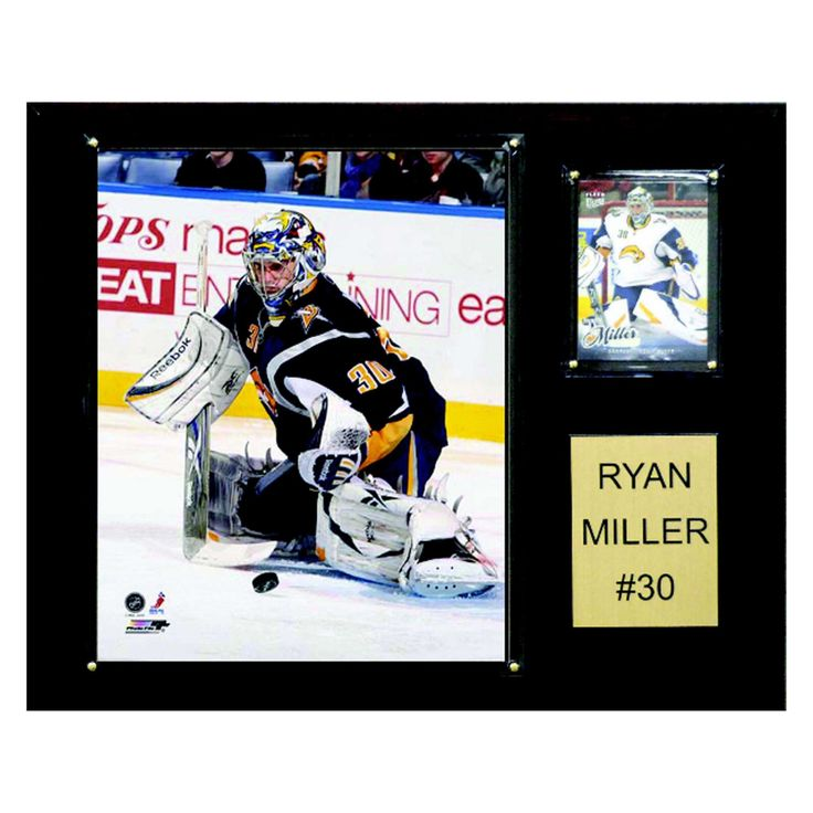 NHL 12 x 15 in. Ryan Miller Buffalo Sabres Player Plaque - 1215RYANMILL