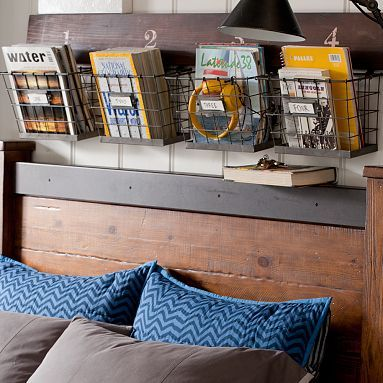 Wood And Wire Wall Multi Basket #pbteen http://www.pbteen.com/products/wood-wire-multi-basket/?pkey=cwall-decor-dorm&