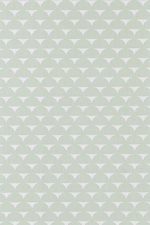 Wallpaper by ellos Harriet-tapetti, utuvihreä