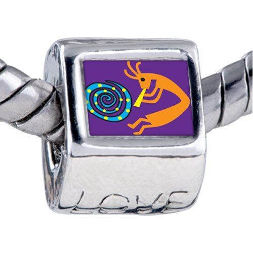 Pugster Bead Kokopelli Dance Beads Fits Pandora Bracelet Pugster. $12.49. Hole size is approximately 4.8 to 5mm. It's the photo on the love charm. Bracelet sold separately. Unthreaded European story bracelet design. Fit Pandora, Biagi, and Chamilia Charm Bead Bracelets