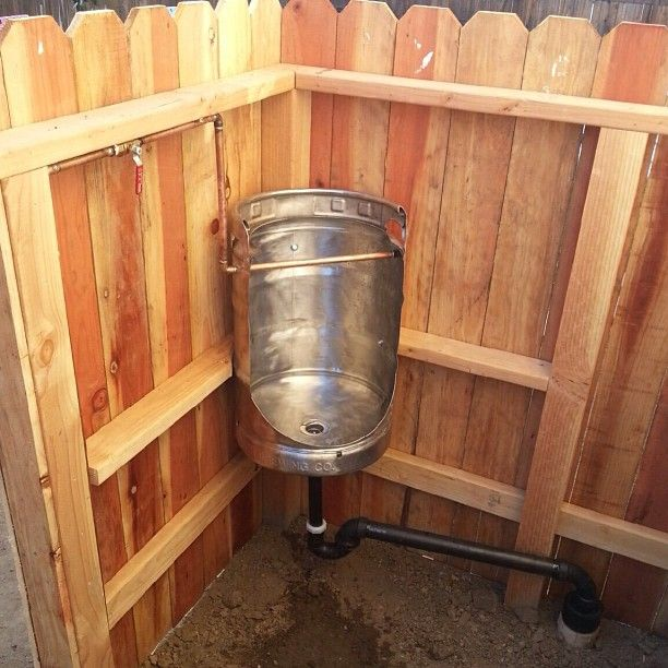 Weekend project for the boys - Outdoor Redneck Urinal