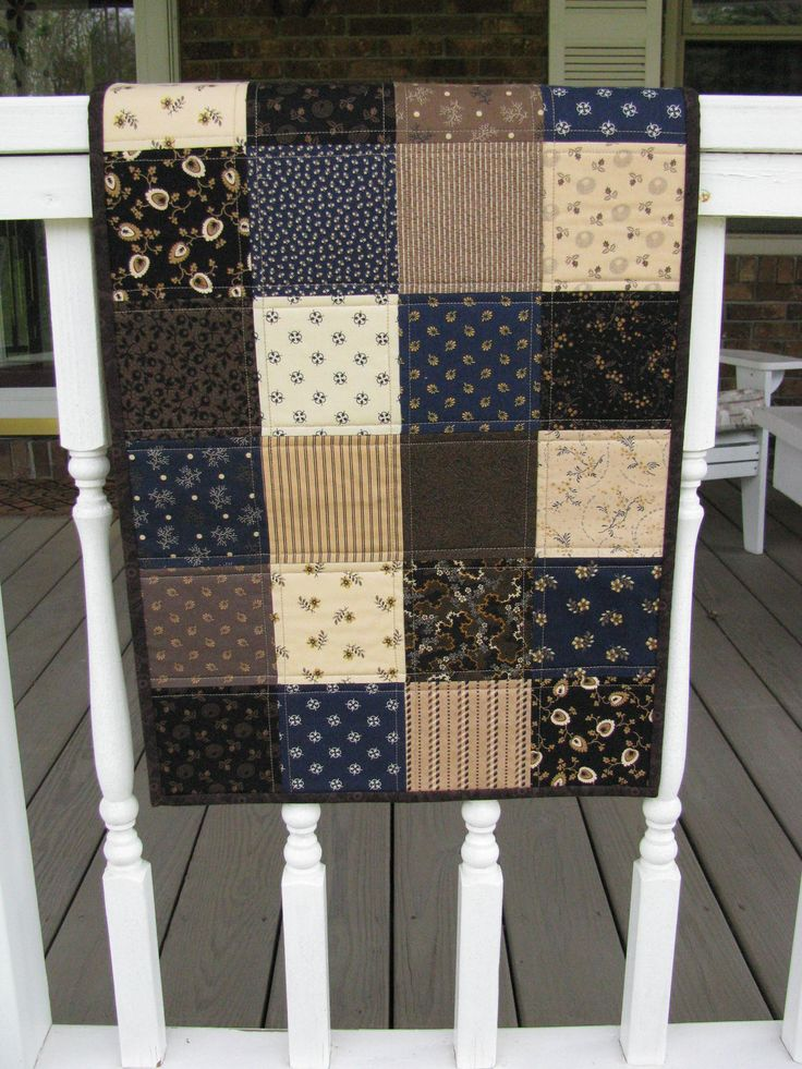 Patchwork Quilted Table Runner this is so simple but so pretty