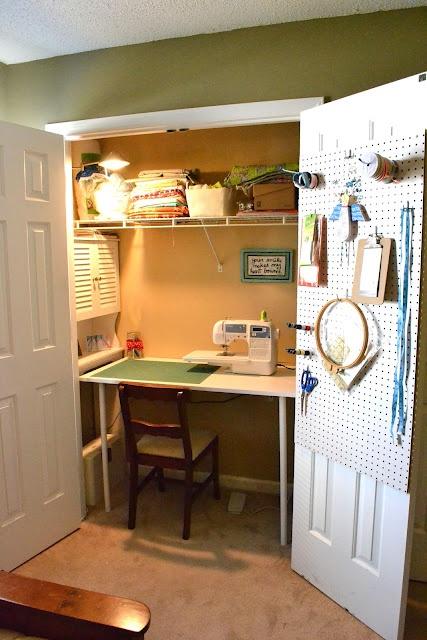 Sewing Closet Transformation | BuzzbeeCaroline