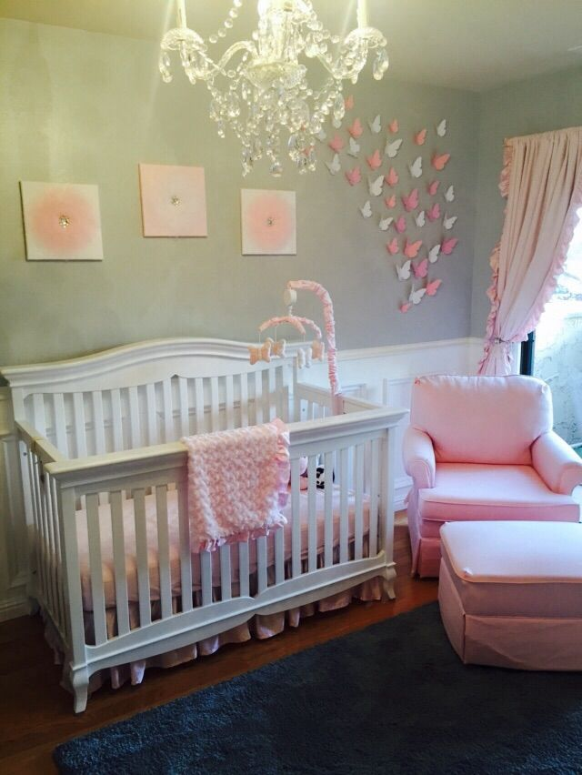 Phoebeu0027s Pink And Grey Nursery