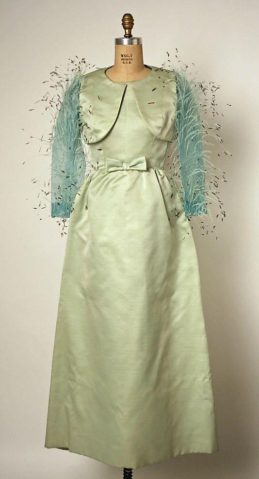 Evening dress, Balenciaga, 1966