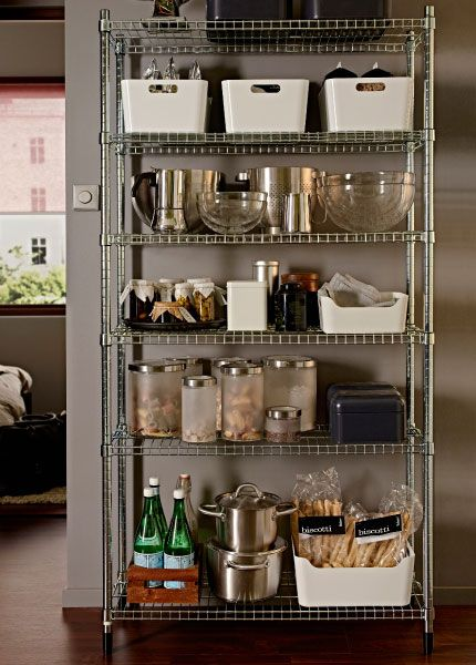 With a range of versatile jars, bottles and storage boxes and this OMAR frame, who needs a pantry? #IKEA #joyofstorage #WonderfulEveryday