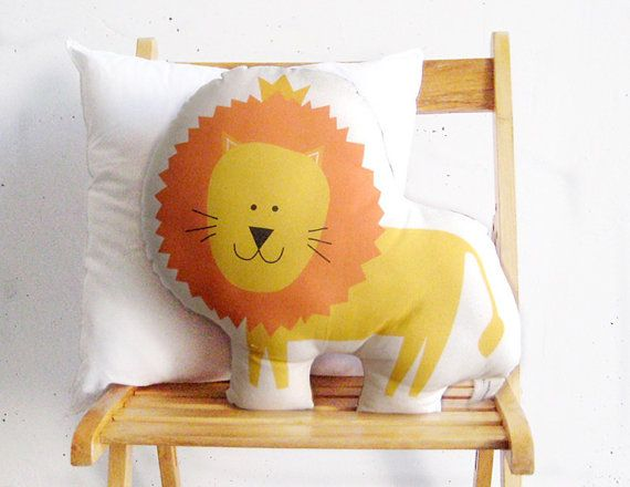 Lion soft toy stuffed animal pillow by PrintsByStellaChili on Etsy