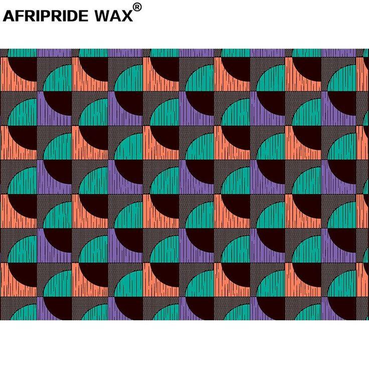 African Colorful Geometric Printed Wax Fabric