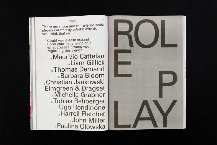 Mousse Magazine 54 ~ #roleplay #artistascurator #moussemagazine #contemporaryart #art #magazine