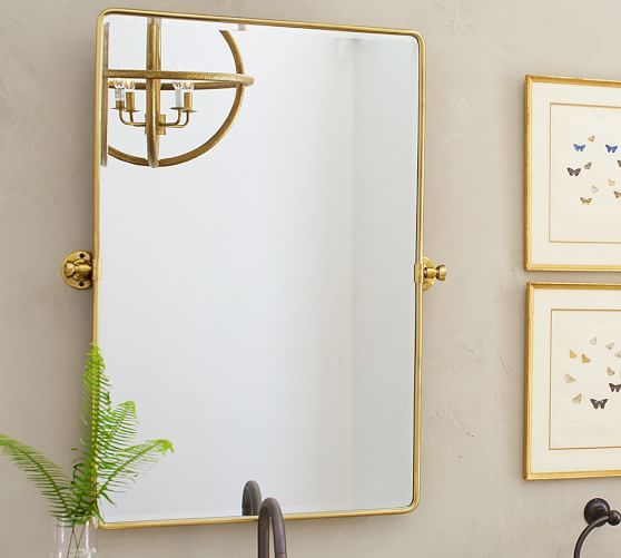 Vintage Pivot Mirror | Pottery Barn Gold or antique bronze (dark) reg size 23 x 34 $199 large  27 x 35 $299