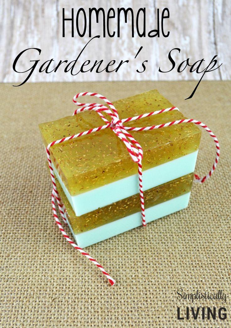 Homemade Gardeners Soap, DIY Homemade Soap, How to Make Homemade Soap, Homemade Soap Gifts