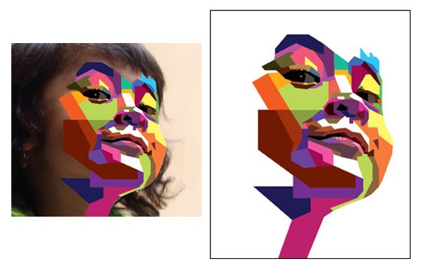 How to Create a Geometric, WPAP Vector Portrait in Adobe ...