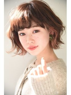 【Lepes】ゆるふわ外ハネボブ☆インナーカラー
