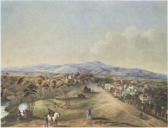 North Terrace, Adelaide 1841