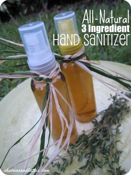 All-Natural 3 Ingredient Hand Sanitizer -- it's that time of year again