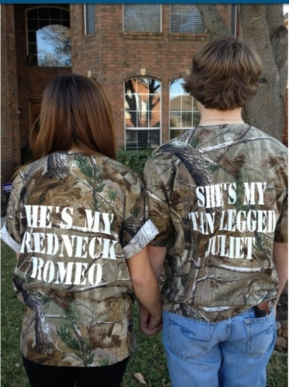 He's my redneck Romeo. She's my tan legged Juliet <3