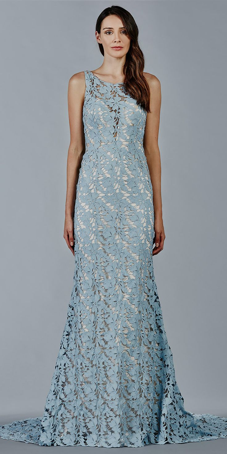 Stunning statement gown in blue! SKYE wedding dress by Kelly Faetanini in Blue // Blue embroidery fit to flare gown with key-hole back. @kellyfaetanini #KellyFaetanini #weddingdress #weddinggown #sponsored #wedding #bridal #blue #weddingdresses #bluelace #lace #blueweddingdress