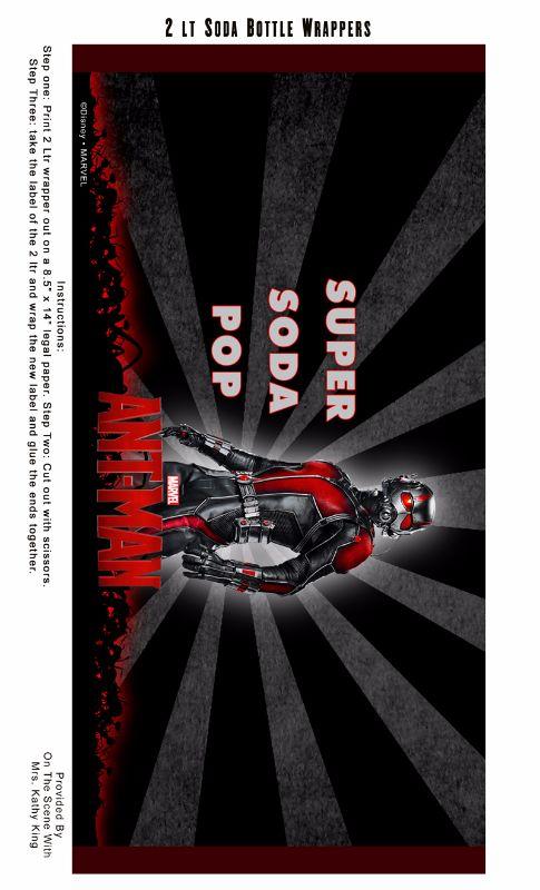 Free Printable ANT-MAN 2 Litter Soda Bottle Wrapper