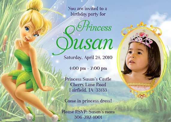 17 best images about tinkerbell party ideas on pinterest, Party invitations
