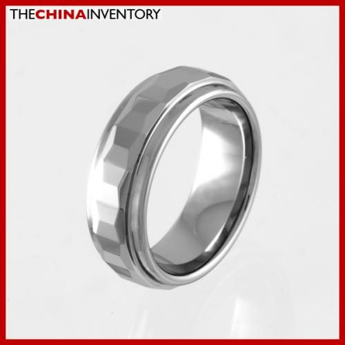 7MM SIZE 9 FACETED TUNGSTEN CARBIDE BAND RING R0918
