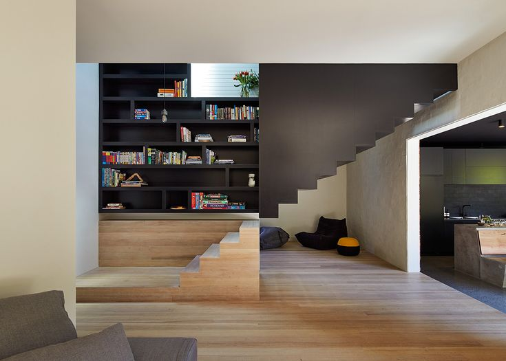 Yin & Yang stairs and shelves. Australia. Make Architecture.