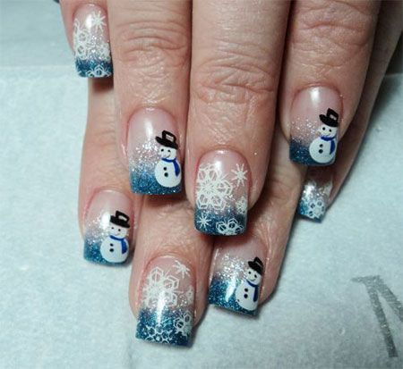 Cute Easy Snowman Nail Art Designs Ideas