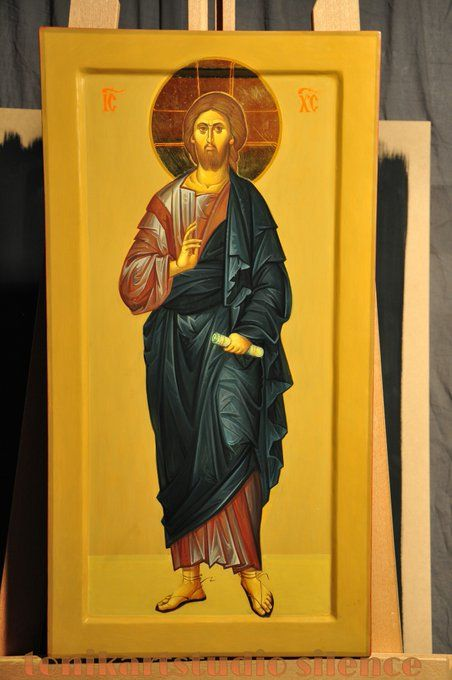 Icon of Christ, byz-art by Anda Tzara, e-mail tonikart.studio@gmail.com