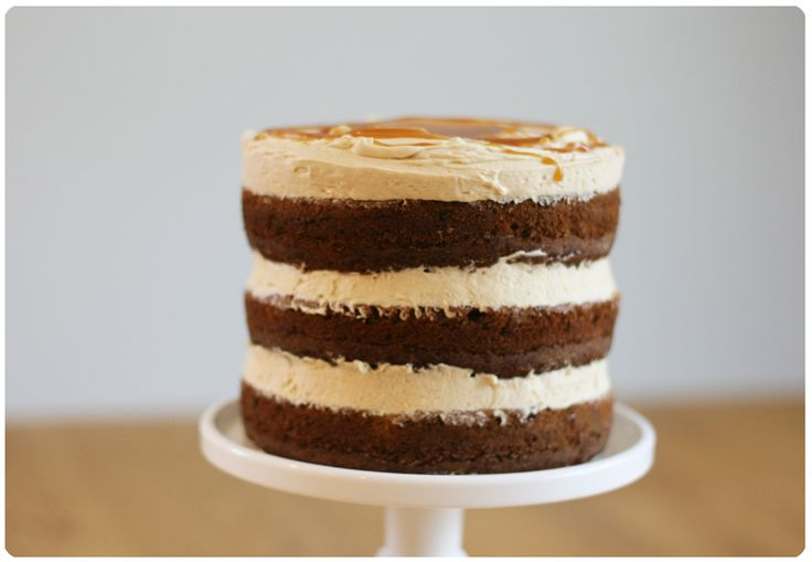 Banana Layer Cake with Salted Caramel Buttercream. Hmm interesting.