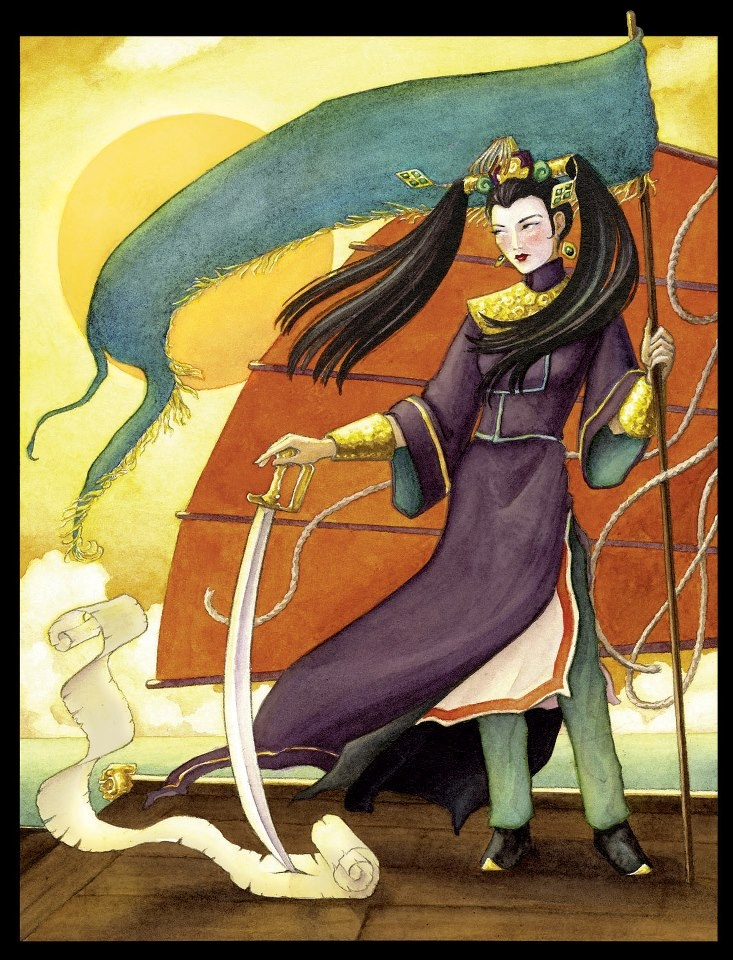 Ching Shih (1775–1844) also known as Cheng I Sao terrorized the China Sea in the early 19th century. A brilliant Cantonese pirate, she commanded 1800 ships and more than 80,000 pirates — men, women, and even children. She challenged the world superpower empires at the time such as the British, Portuguese and the Qing dynasty. Undefeated, she would become one of China and Asia's strongest pirates, and one of world history's most powerful pirates.